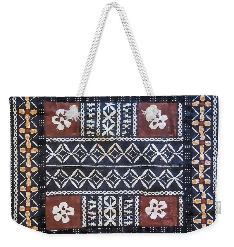 44b82c0de91 Fiji Tapa Cloth Weekender Tote Bag
