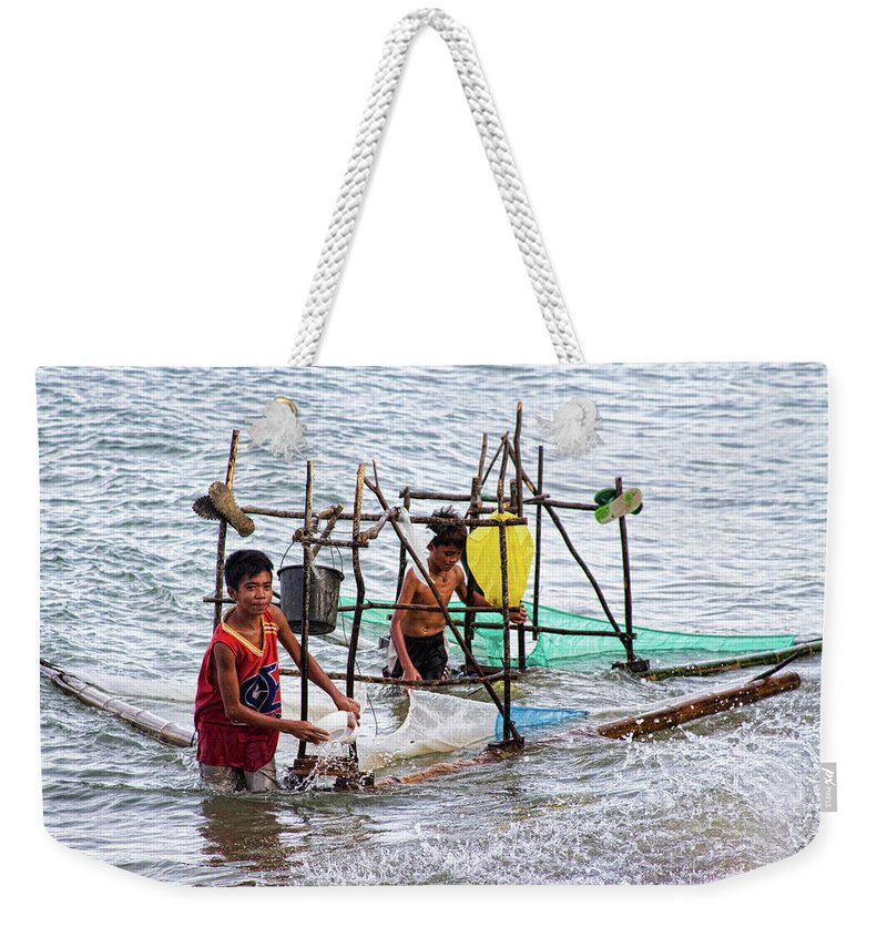 Philippines Weekender Tote Bag featuring the photograph Filipino Fishing by James BO Insogna