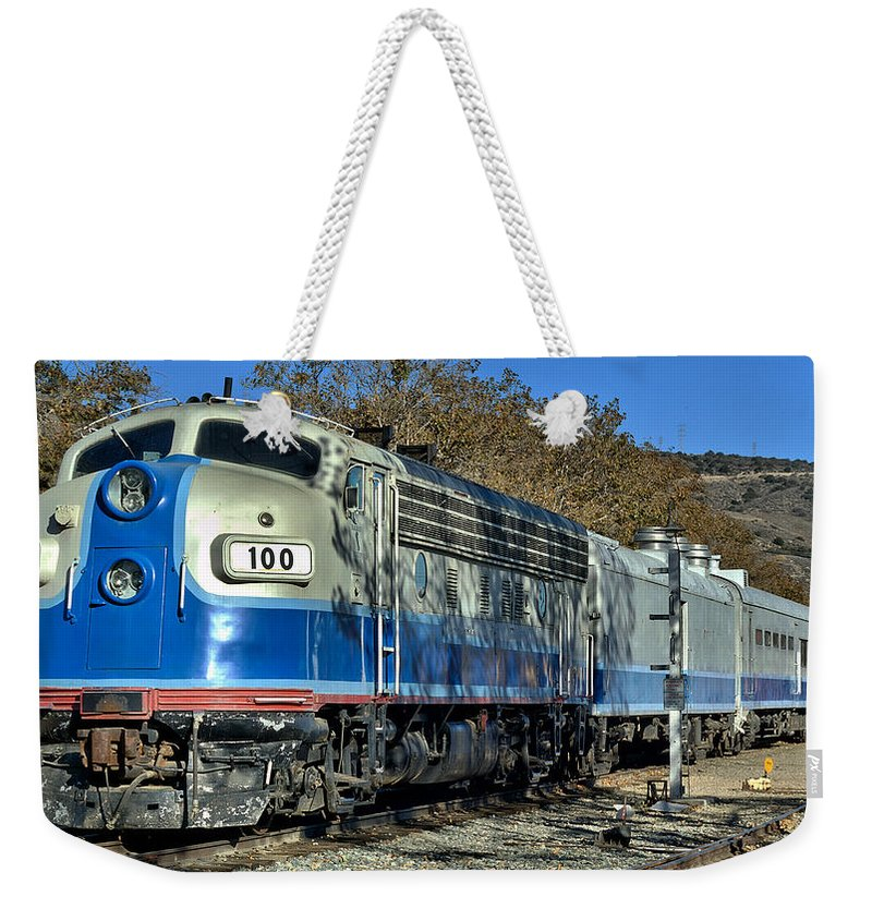 Fillmore Weekender Tote Bag featuring the photograph Fillmore And Western Railway Christmas Train 3 by Michael Gordon
