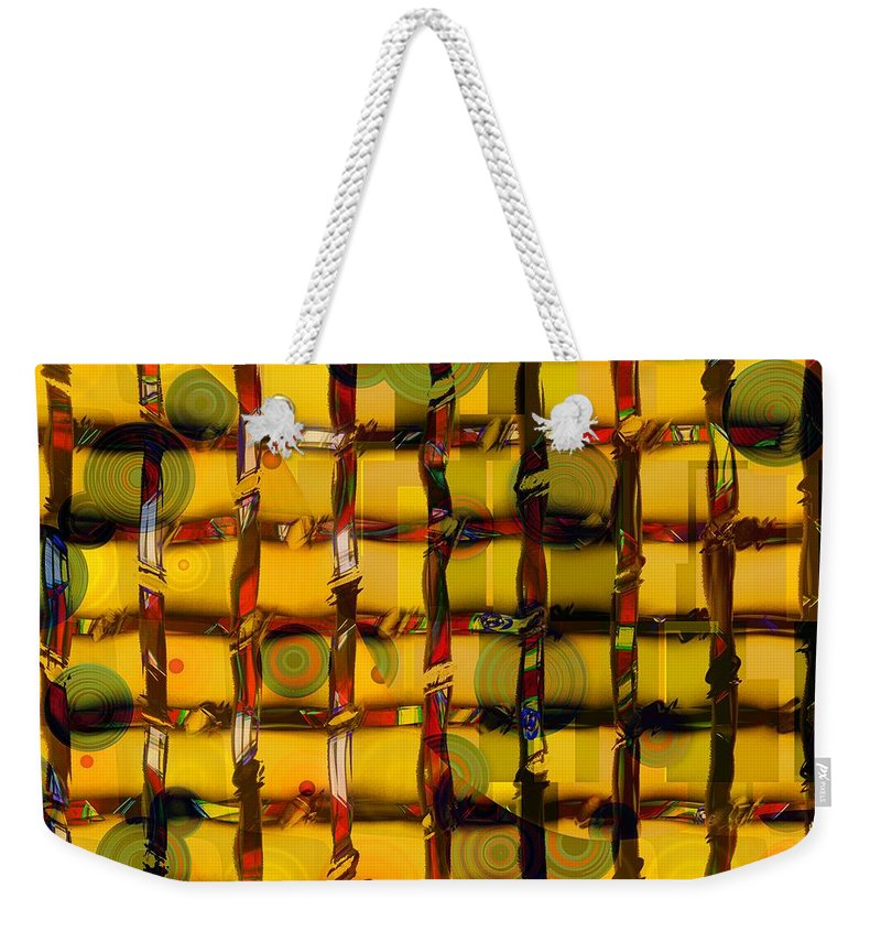 Abstract Weekender Tote Bag featuring the painting Filter by RC DeWinter