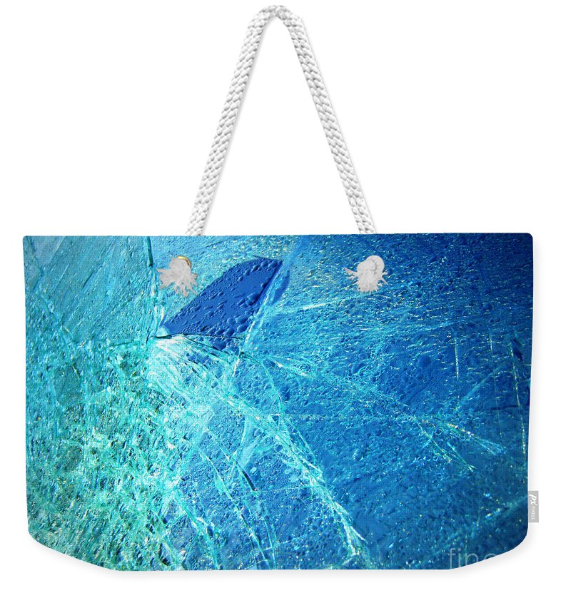Abstract Weekender Tote Bag featuring the photograph Fin by Kristine Nora