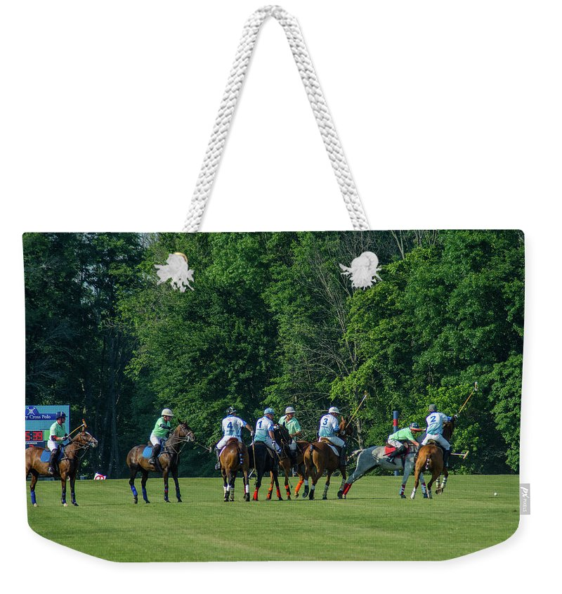 Banbury Cross Weekender Tote Bag featuring the photograph Finals Group by Sarah M Taylor