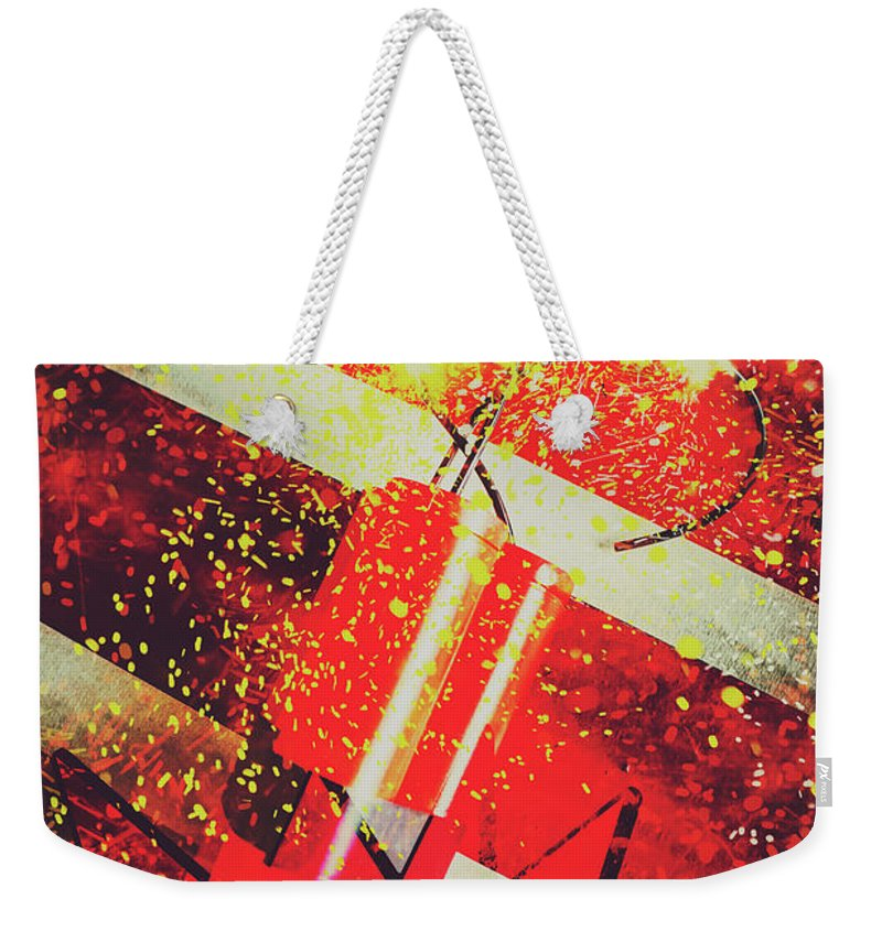 Meltdown Weekender Tote Bag featuring the digital art Financial Meltdown Coming Soon by Jorgo Photography - Wall Art Gallery