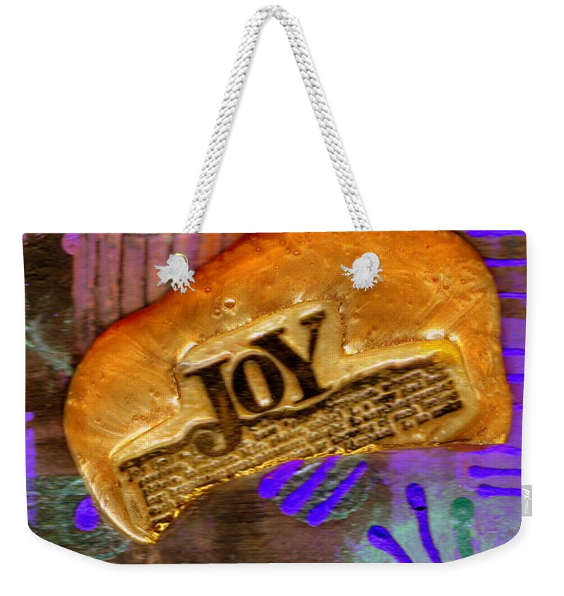 Woman Weekender Tote Bag featuring the mixed media Find Your Joy by Angela L Walker