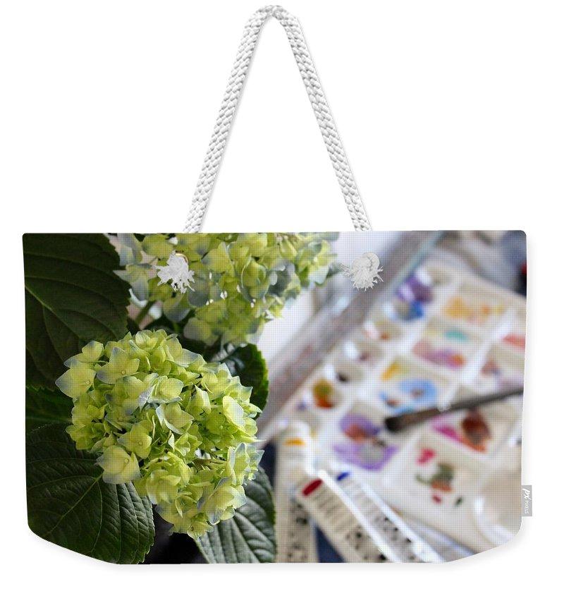 Finding A Simple Joy Weekender Tote Bag featuring the photograph Finding A Simple Joy by Kume Bryant