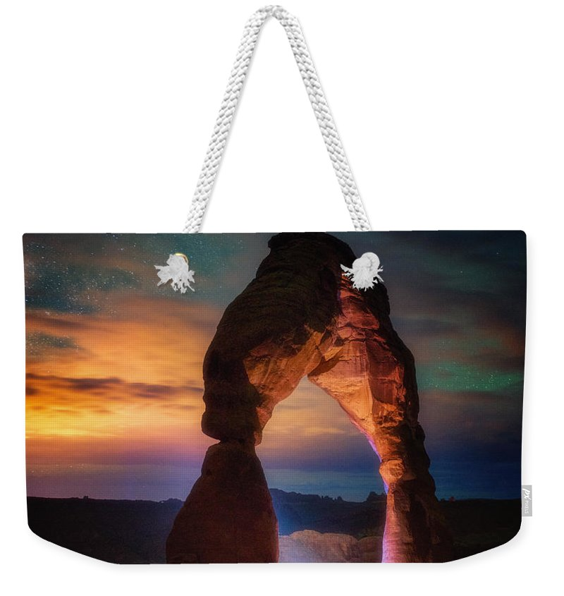 Arches Weekender Tote Bag featuring the photograph Finding Heaven by Darren White