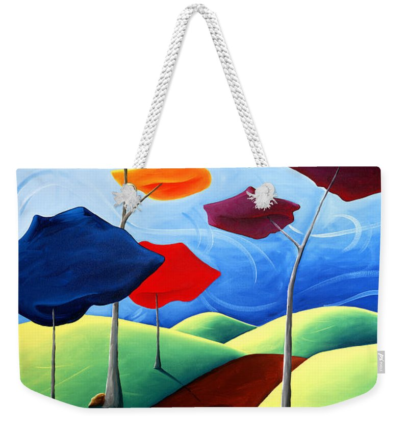 Landscape Weekender Tote Bag featuring the painting Finding Your Way by Richard Hoedl