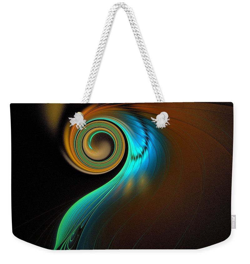 Digital Art Weekender Tote Bag featuring the digital art Fine Feathers by Amanda Moore