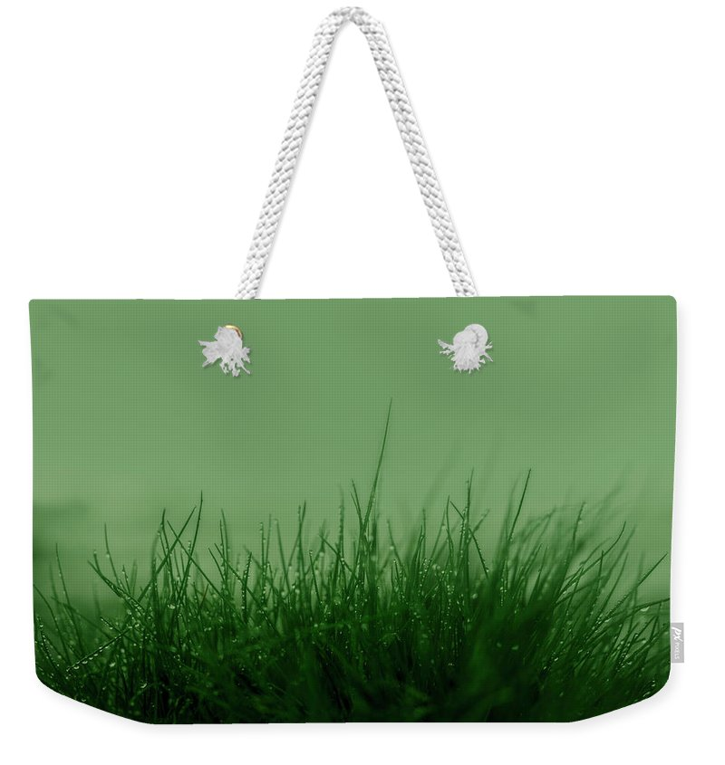 Green Grass Weekender Tote Bag featuring the photograph Fineart-nature-5 by Preben Stentoft