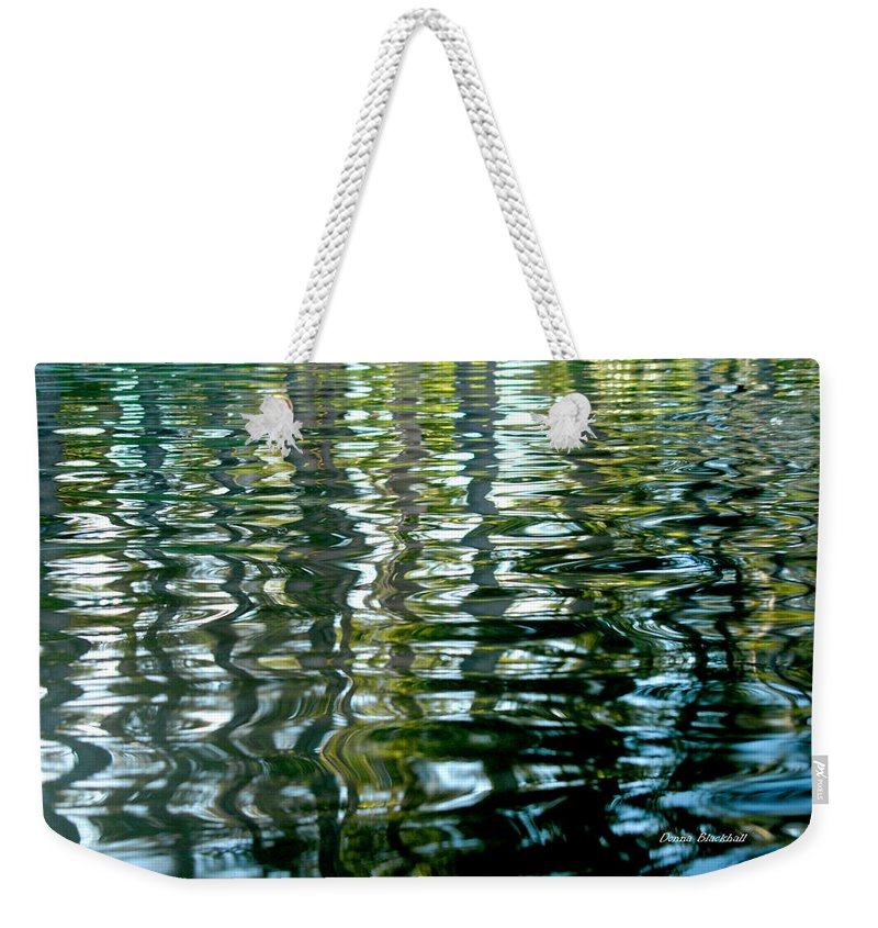 Water Weekender Tote Bag featuring the photograph Finger Painting by Donna Blackhall