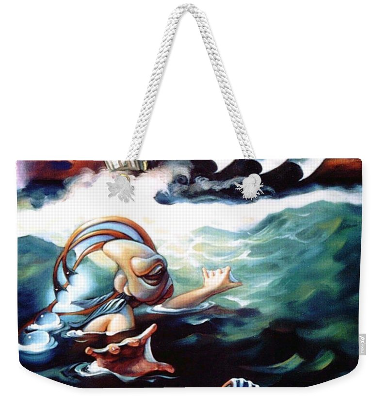 Seafarer Weekender Tote Bag featuring the painting Finnegan's Quest by Patrick Anthony Pierson