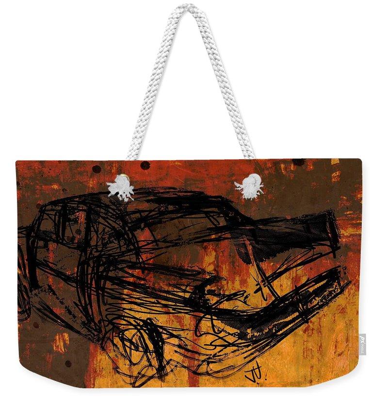 Car Weekender Tote Bag featuring the digital art Finns by Jim Vance