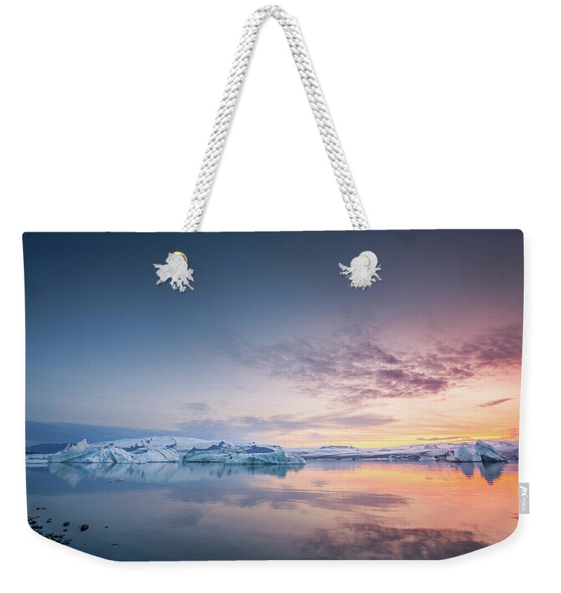 Landscape Weekender Tote Bag featuring the photograph Fire And Ice by Siddhartha De