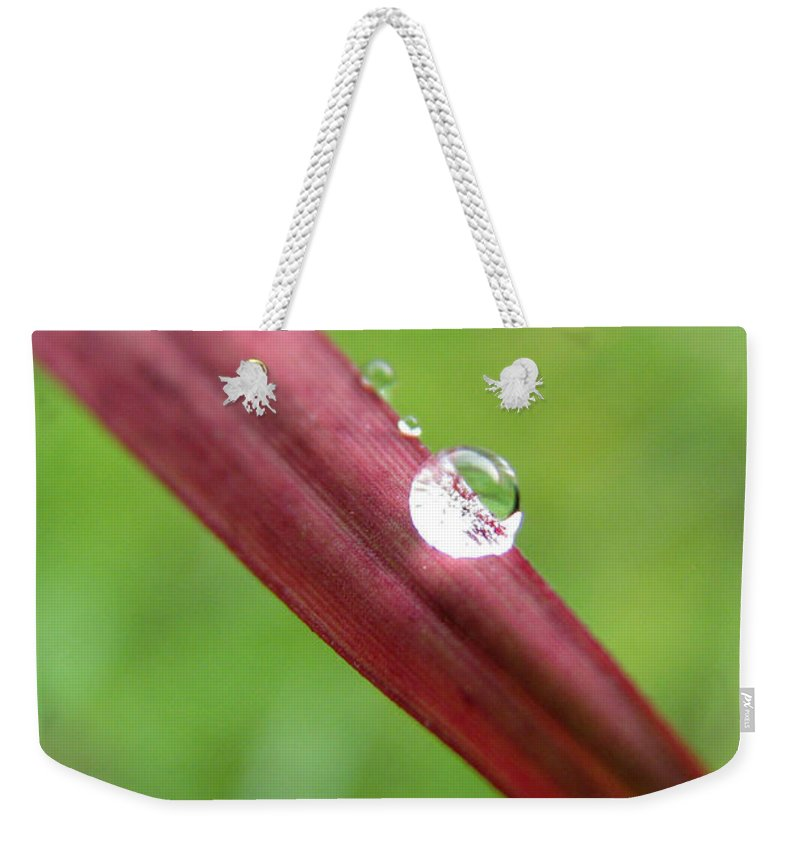 Water Weekender Tote Bag featuring the photograph Fire And Water by Amanda Barcon