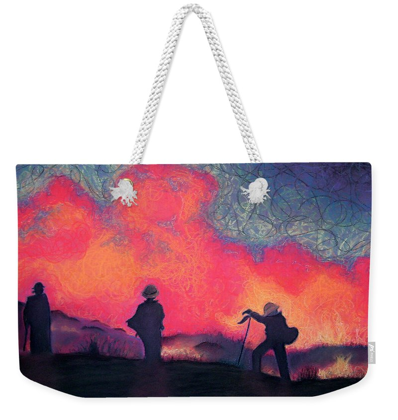Fire Crews Weekender Tote Bag featuring the drawing Fire Crew by Joshua Morton