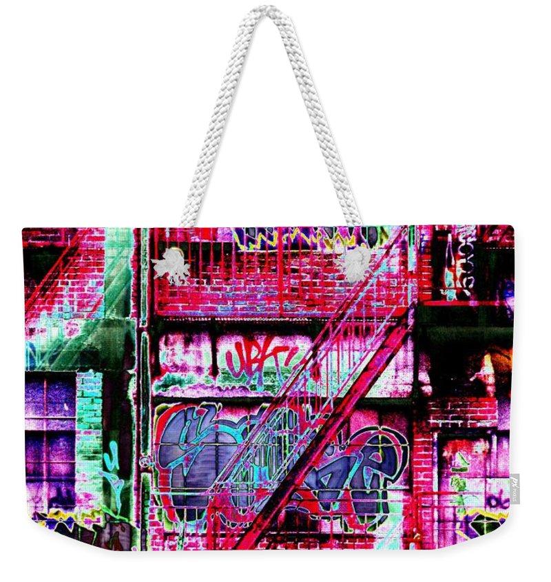 Fire Escape Weekender Tote Bag featuring the digital art Fire Escape 3 by Tim Allen
