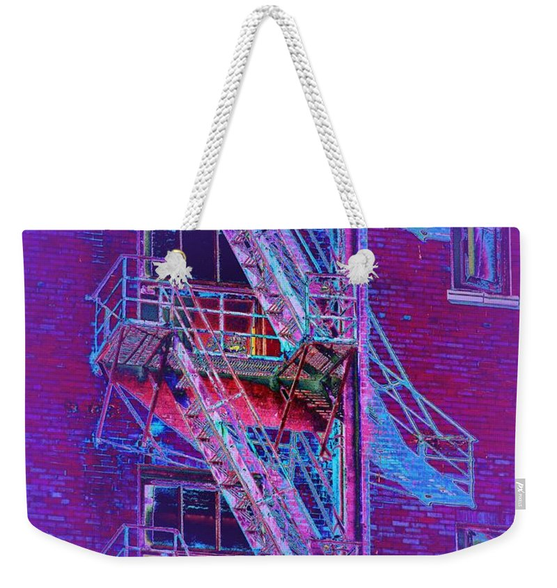 Fire Escape Weekender Tote Bag featuring the photograph Fire Escape 4 by Tim Allen