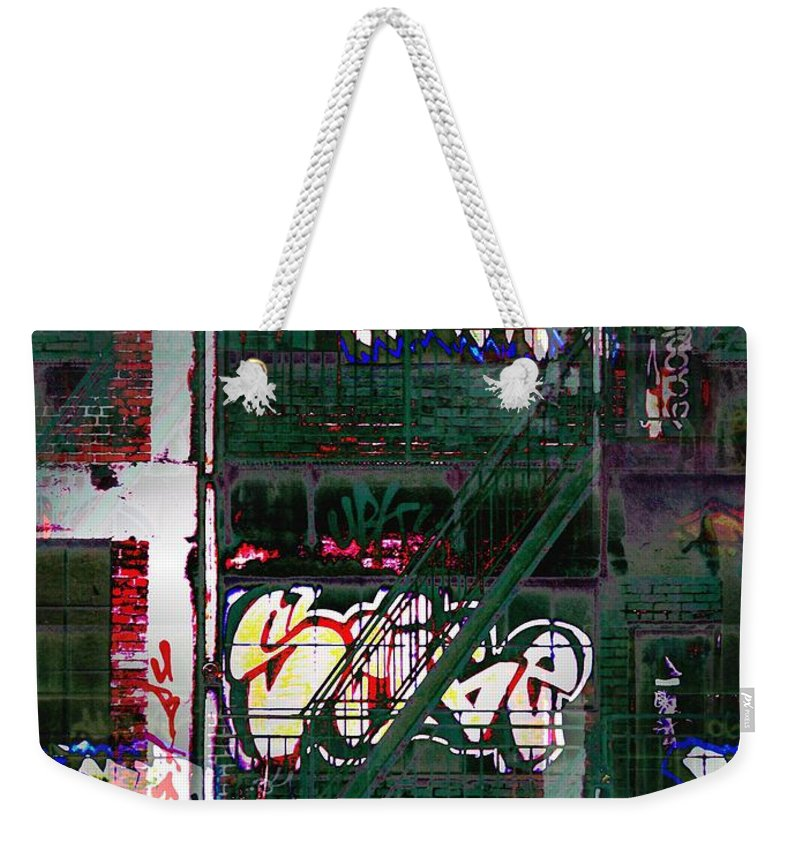 Fire Escape Weekender Tote Bag featuring the photograph Fire Escape 6 by Tim Allen
