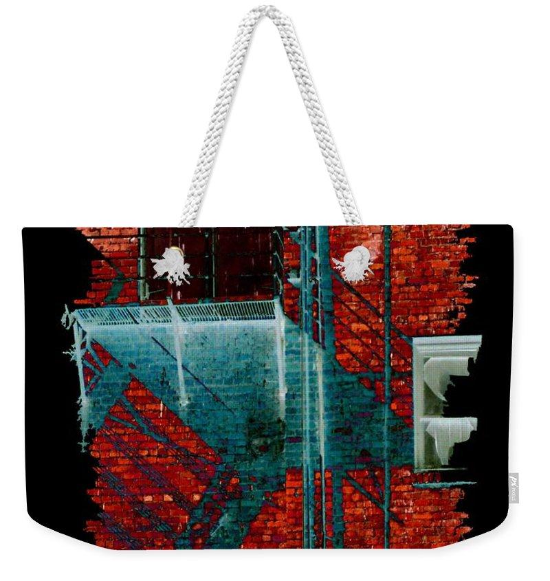 Fire Escape Weekender Tote Bag featuring the digital art Fire Escape 7 by Tim Allen