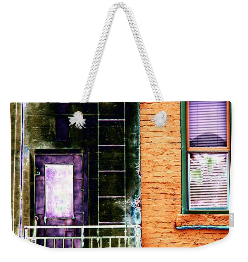 Fire Escape Weekender Tote Bag featuring the digital art Fire Escape by Tim Allen