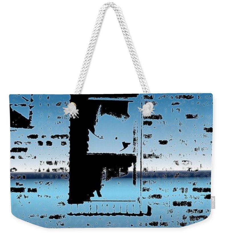 Window Weekender Tote Bag featuring the digital art Fire Escape Window by Tim Allen