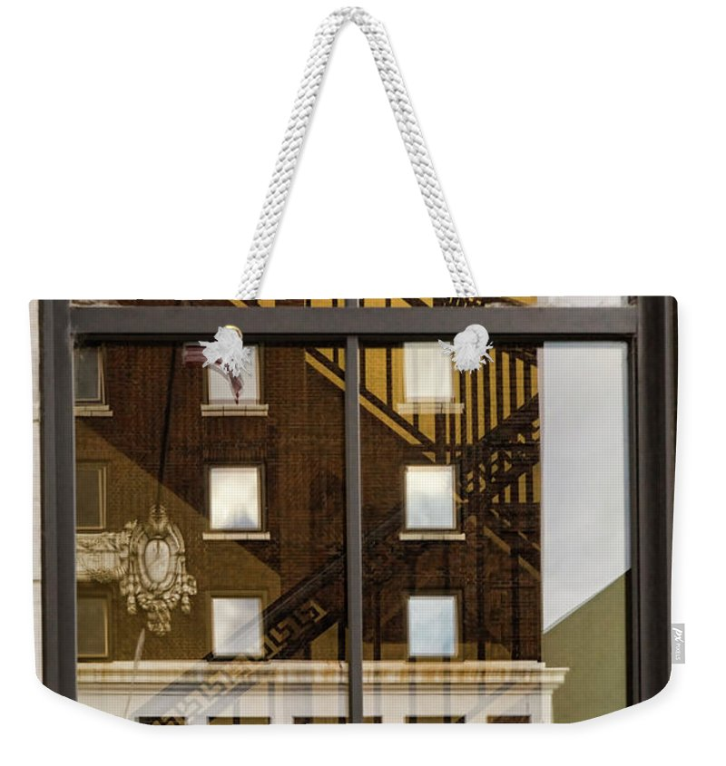 Knoxville Weekender Tote Bag featuring the photograph Fire Exit by Sharon Popek