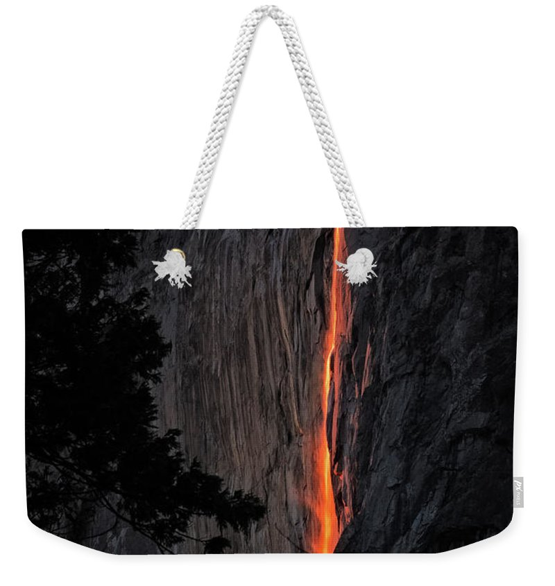 2016 Weekender Tote Bag featuring the photograph Fire Fall by Edgars Erglis