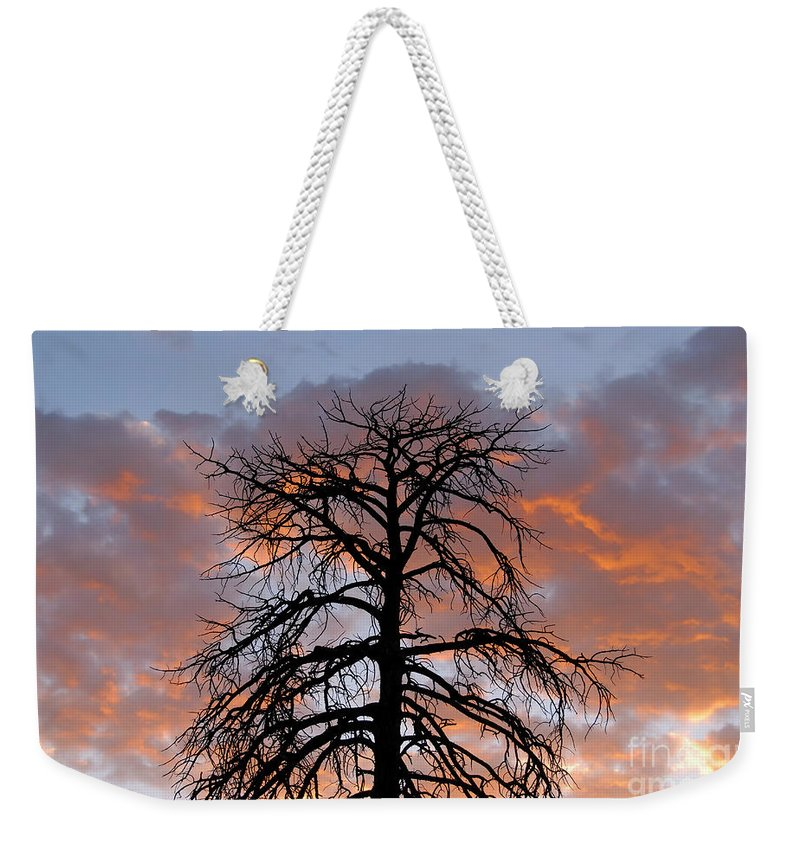 Fire Weekender Tote Bag featuring the photograph Fire In The Sky by David Lee Thompson
