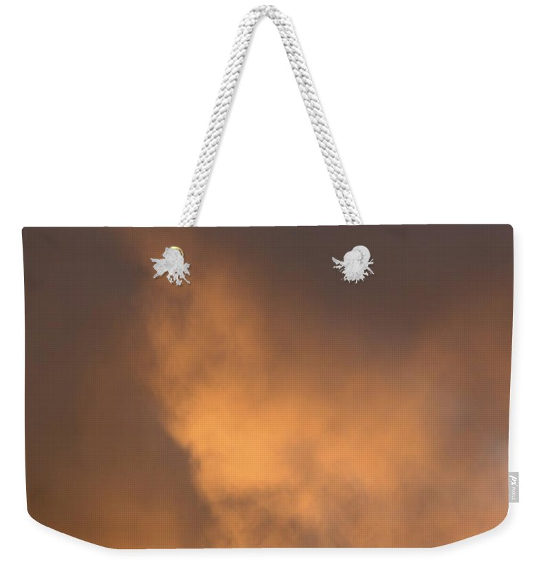 Landscape Weekender Tote Bag featuring the photograph Fire In The Sky by Jerry McElroy