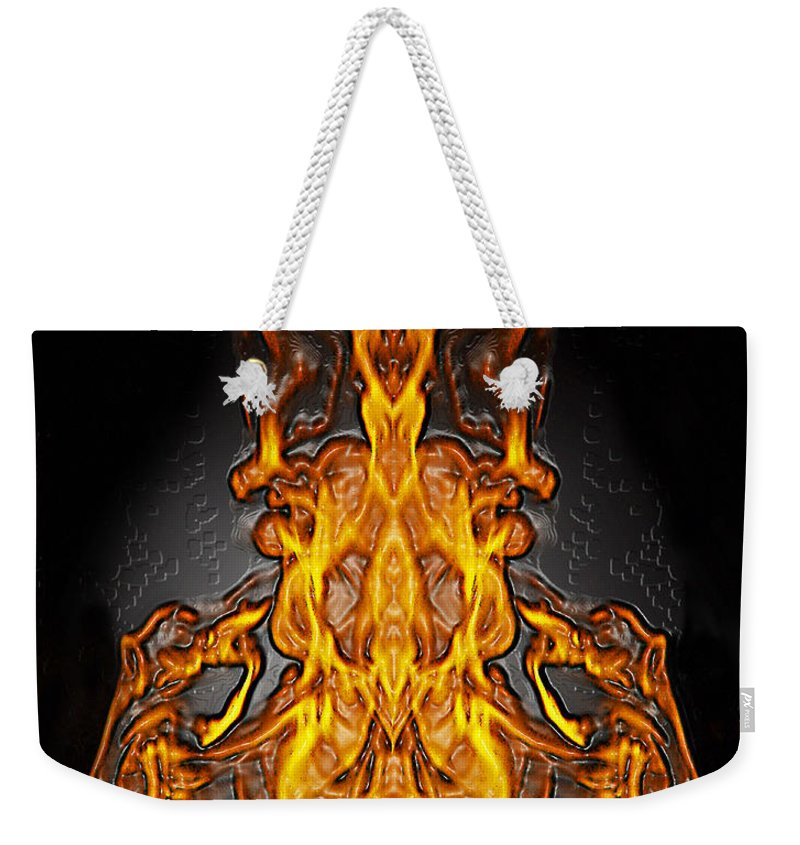 Devil Weekender Tote Bag featuring the photograph Fire Leather by Peter Piatt