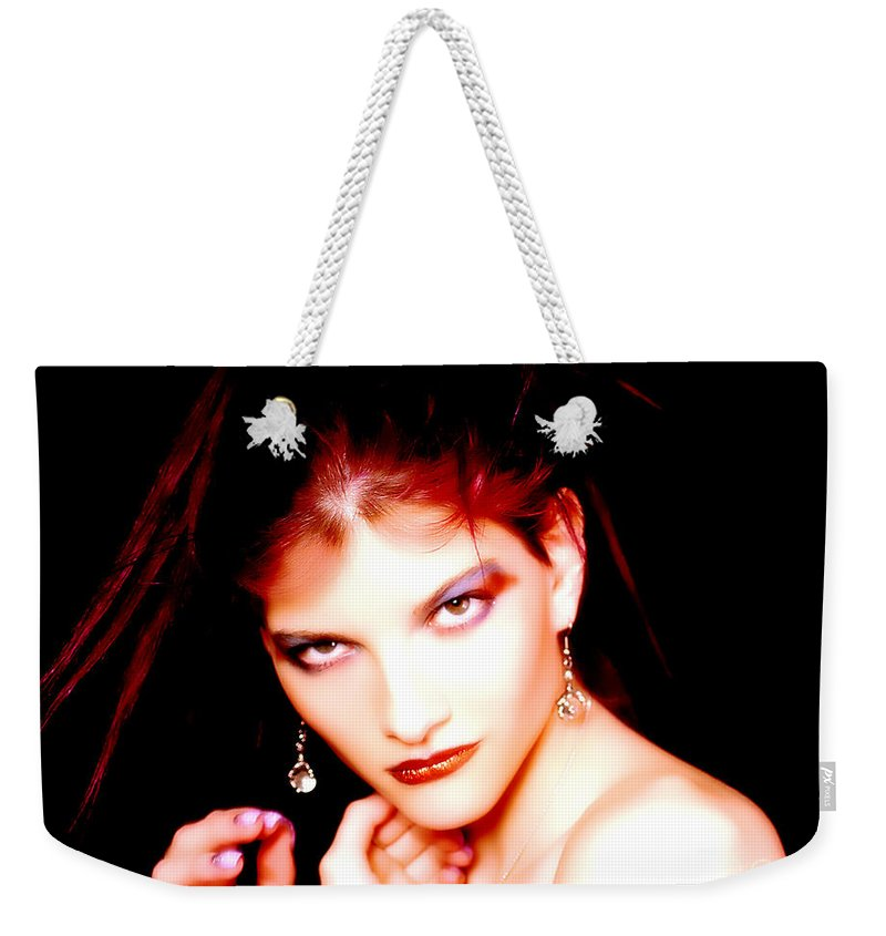Clay Weekender Tote Bag featuring the photograph Fire Red by Clayton Bruster