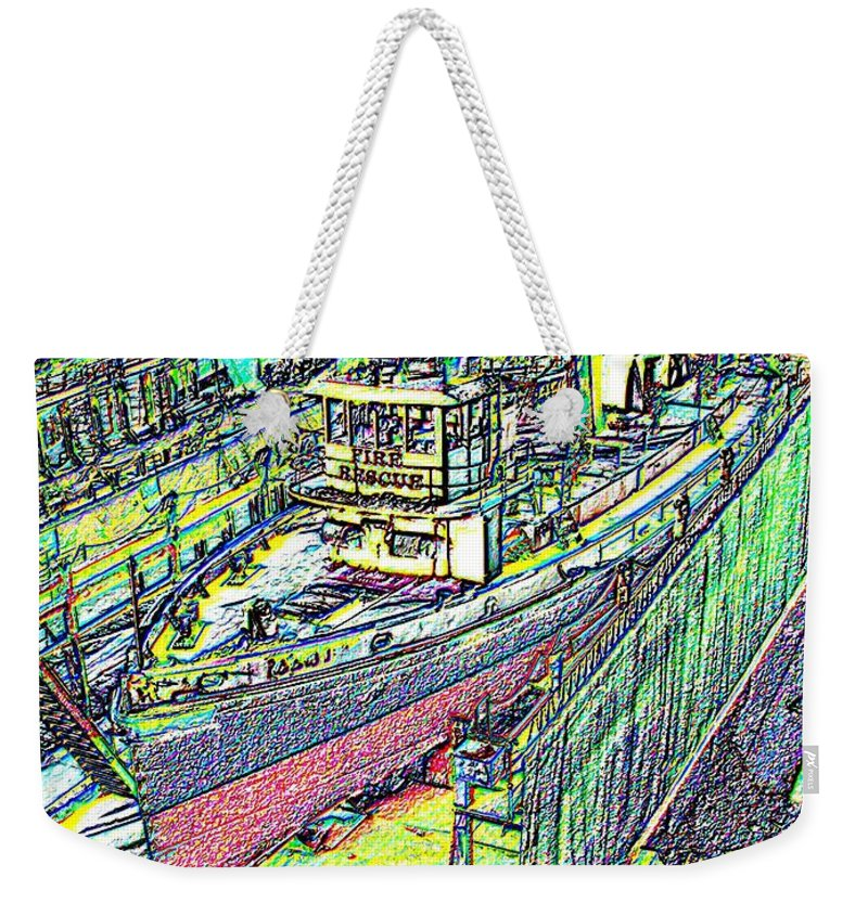 Seattle Weekender Tote Bag featuring the photograph Fire Rescue by Tim Allen