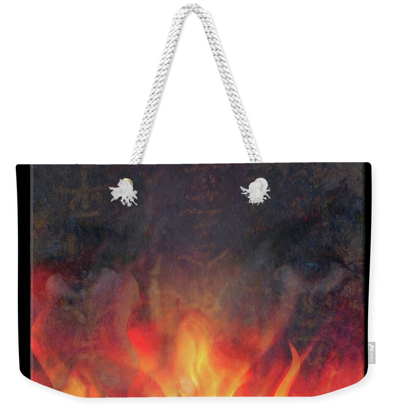 Fire Weekender Tote Bag featuring the photograph Fire Soul by Ed Hall