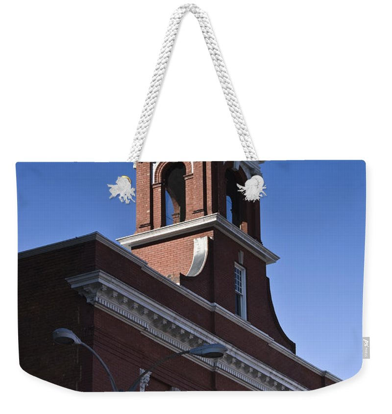 Roanoke Weekender Tote Bag featuring the photograph Fire Station No 1 Roanoke Virginia by Teresa Mucha
