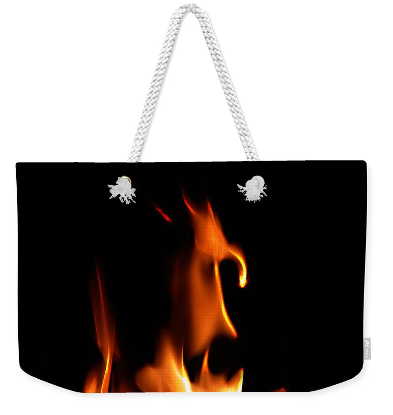 Cartoon Character Fire Weekender Tote Bag featuring the photograph Fire Toon by Peter Piatt