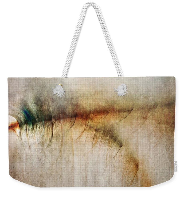 Fire Weekender Tote Bag featuring the digital art Fire Walk With Me by Scott Norris