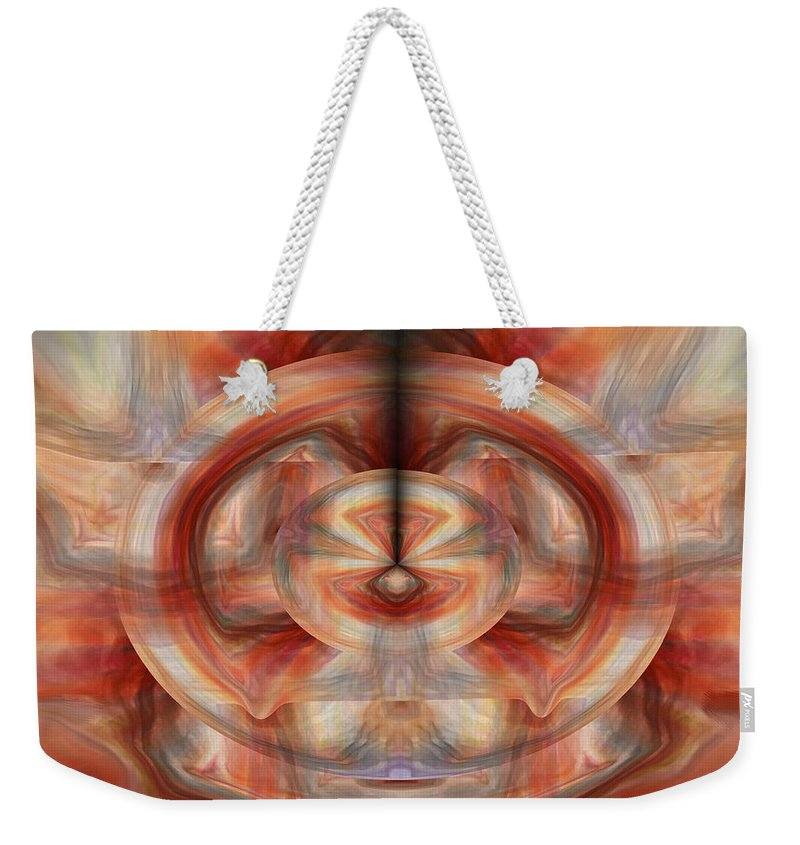 Abstract Art Weekender Tote Bag featuring the digital art Fire Wheel by Linda Sannuti