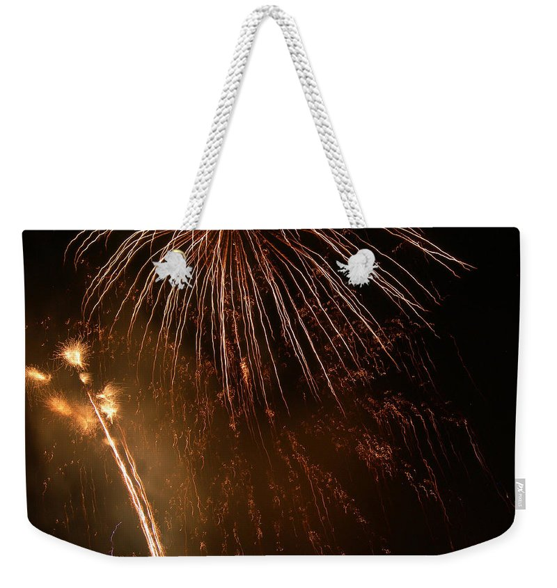 Fireworks Weekender Tote Bag featuring the photograph Firefall by Lorraine Baum