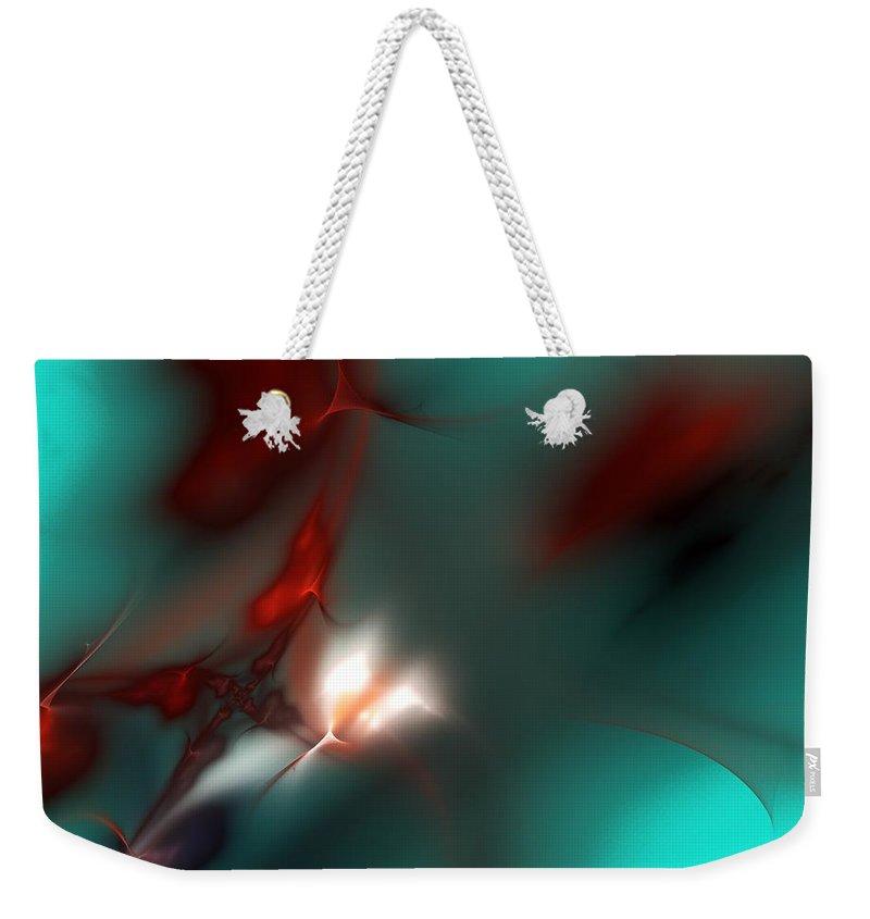 Digital Painting Weekender Tote Bag featuring the digital art Firefly by David Lane