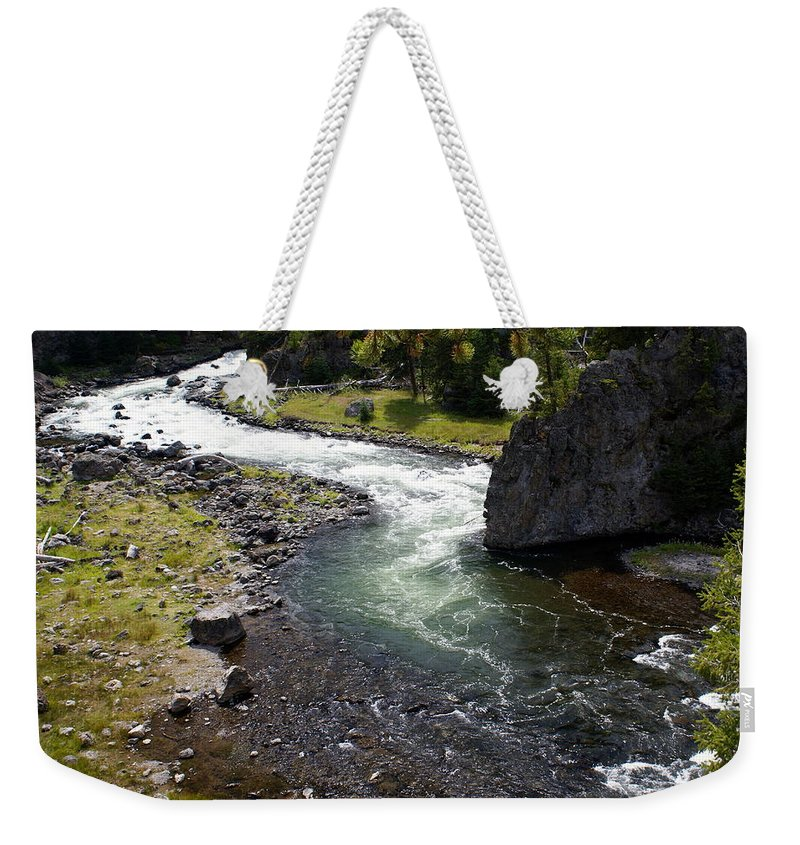 Yellowstone National Park. Firehole River Weekender Tote Bag featuring the photograph Firehole Bend by Marty Koch