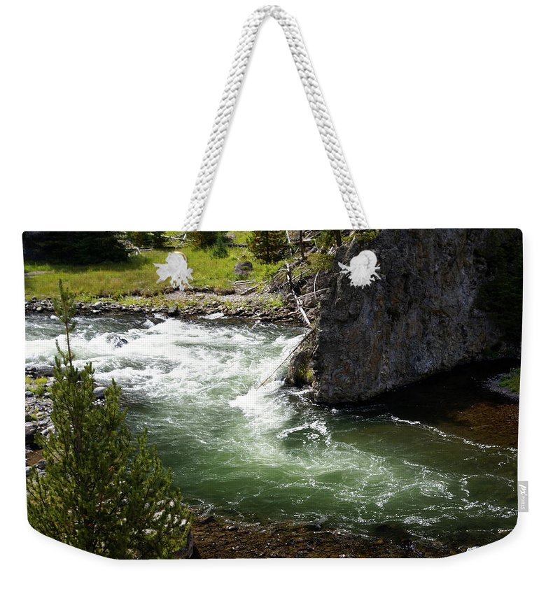Yellowstone National Park Weekender Tote Bag featuring the photograph Firehole Canyon 1 by Marty Koch