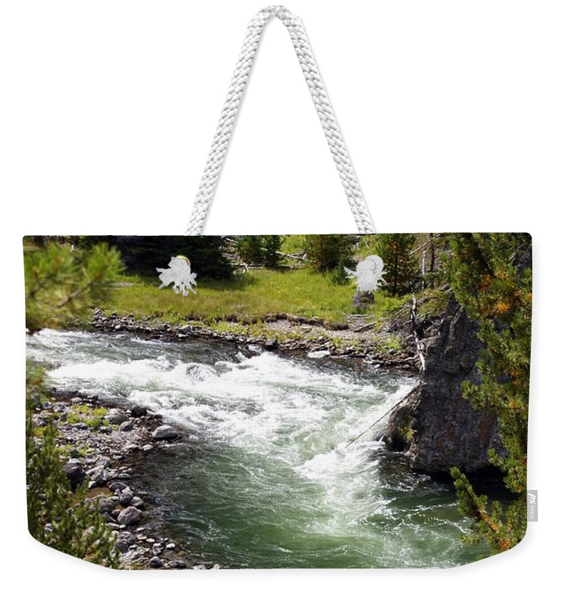 Yellowstone National Park Weekender Tote Bag featuring the photograph Firehole Canyon 2 by Marty Koch