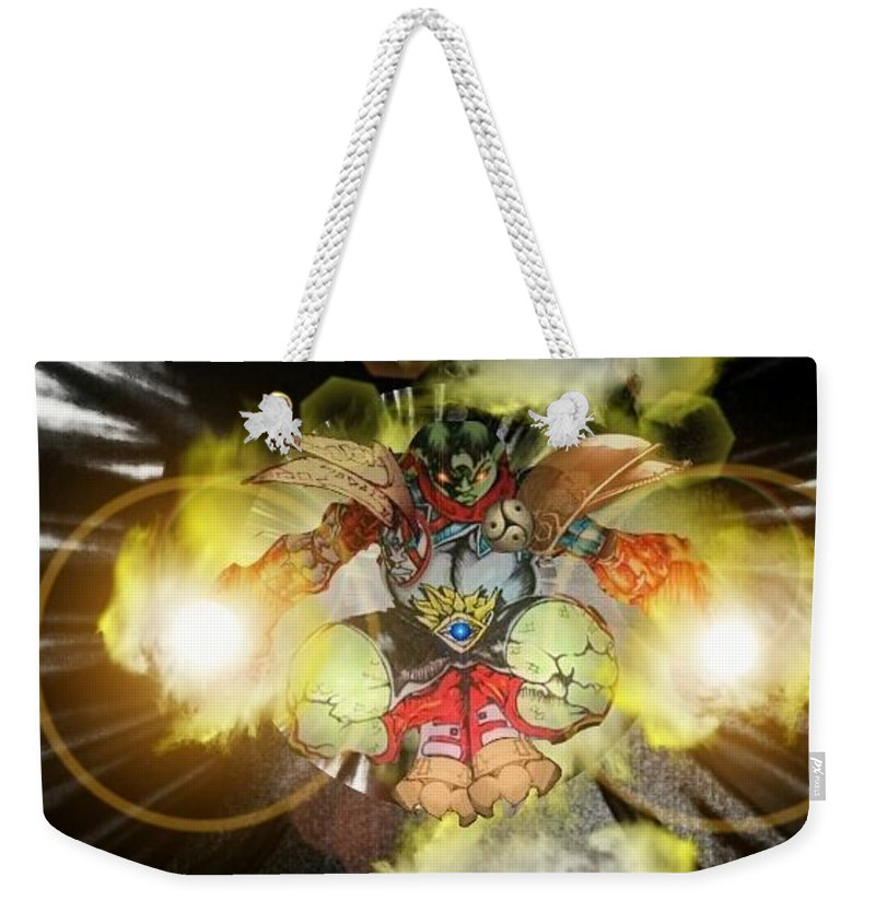 Fantasy Landscape Weekender Tote Bag featuring the drawing Firelord by Louis Williams