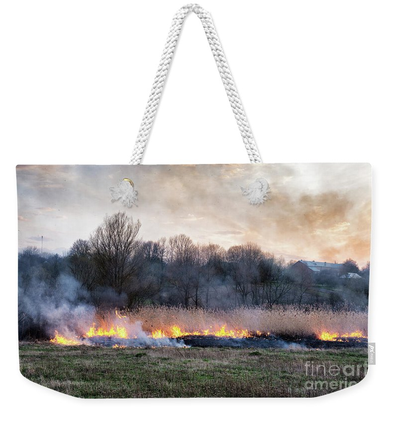 Nature Weekender Tote Bag featuring the photograph Fires Sunset Landscape by Oleksandr Masnyi