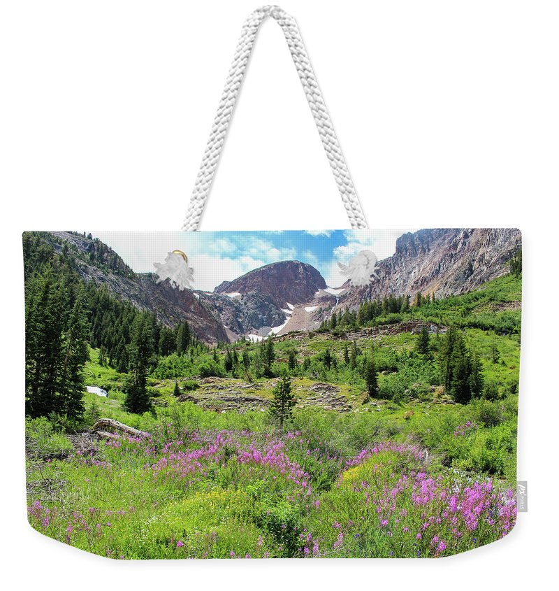 Fireweed Weekender Tote Bag featuring the photograph Fireweed Frenzy by Jennifer McMahon