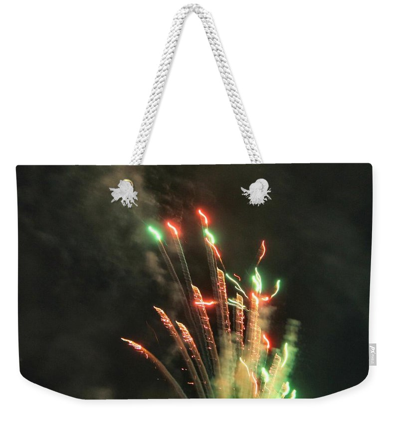 Fireworks Weekender Tote Bag featuring the photograph Fireworks by Debbie Levene