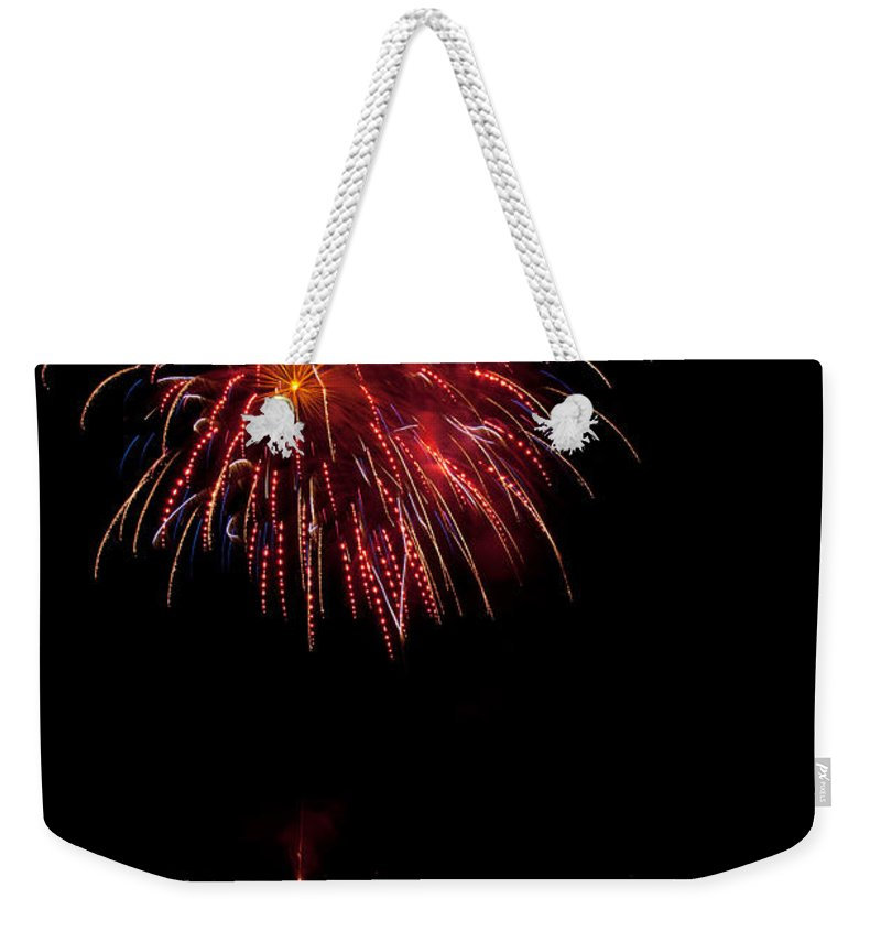 Fireworks Weekender Tote Bag featuring the photograph Fireworks II by Christopher Holmes