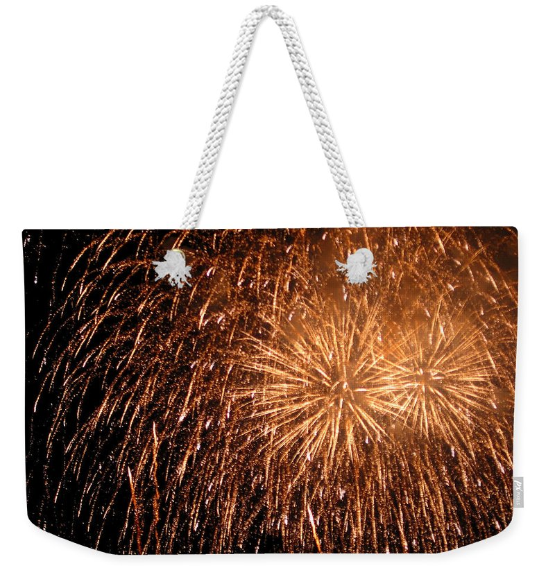 Fireworks Weekender Tote Bag featuring the photograph Fireworks by Julie Niemela
