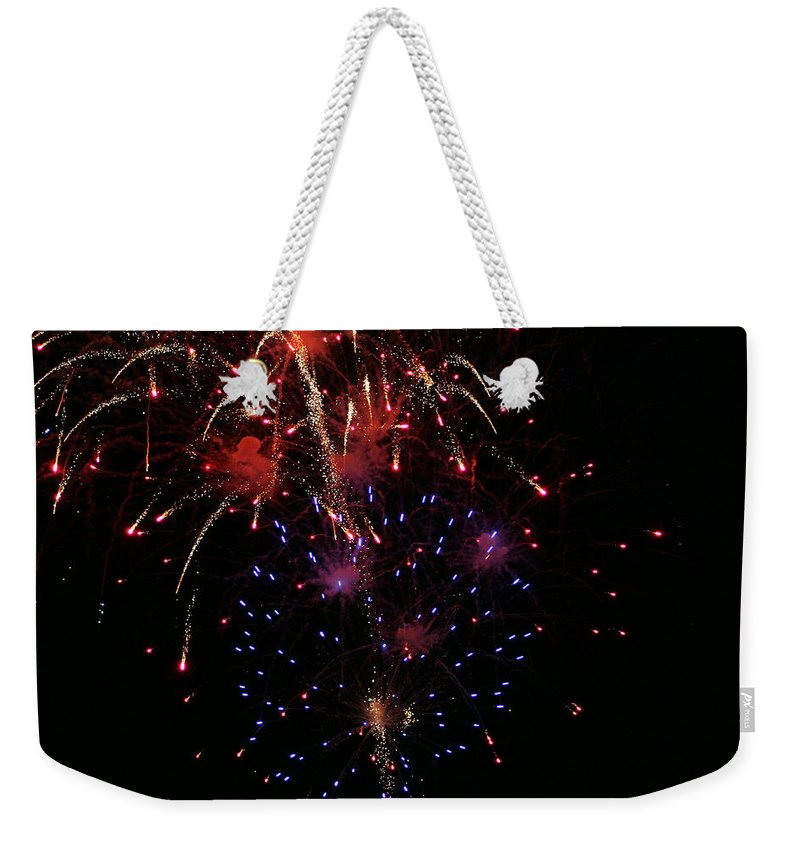 Fireworks Weekender Tote Bag featuring the photograph Fireworks by Kristin Elmquist