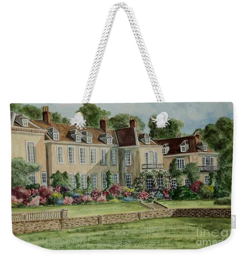 England Weekender Tote Bag featuring the painting Firle Place England by Charlotte Blanchard